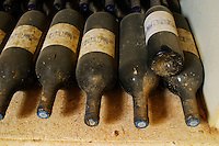 Vintage 1996. Chateau St Martin de la Garrigue. Languedoc. Bottle cellar. France. Europe. Bottle.