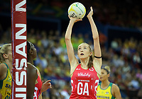 02.08.2017 England's Helen Housby in action during a netball match between Australia and England at the Brisbane Entertainment Centre in Brisbane Australia. Mandatory Photo Credit ©Michael Bradley.