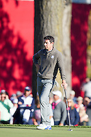 Rory McIlroy (Team Europe) on the 8th green during the Saturday morning Foursomes at the Ryder Cup, Hazeltine national Golf Club, Chaska, Minnesota, USA.  01/10/2016<br /> Picture: Golffile | Fran Caffrey<br /> <br /> <br /> All photo usage must carry mandatory copyright credit (&copy; Golffile | Fran Caffrey)