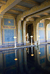 California, San Luis Obispo County: Hearst Castle State Park, formerly the palatial hillside home of publisher William Randoph Hearst. Indoor pool..Photo caluis219-70969.Photo copyright Lee Foster, www.fostertravel.com, 510-549-2202, lee@fostertravel.com