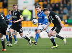 St Johnstone v Hibs...22.03.14    SPFL<br /> Stevie May and Michael Nelson<br /> Picture by Graeme Hart.<br /> Copyright Perthshire Picture Agency<br /> Tel: 01738 623350  Mobile: 07990 594431