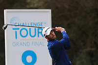 Robin Roussel (FRA) on the 8th tee during Round 2 of the Challenge Tour Grand Final 2019 at Club de Golf Alcanada, Port d'Alcúdia, Mallorca, Spain on Friday 8th November 2019.<br /> Picture:  Thos Caffrey / Golffile<br /> <br /> All photo usage must carry mandatory copyright credit (© Golffile | Thos Caffrey)