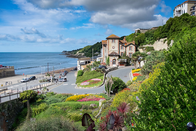 Ventnor seafront, on the south coast of the Isle of Wight.