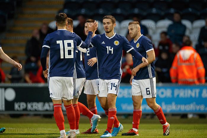 05.09.2019 Scotland u-21 v San Marino, European u-21 Championship 2021 Jordan Holsgrove celebrates after forcing a San Marino OG