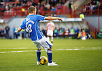 Hamilton Accies v St Johnstone...31.10.15  SPFL  New Douglas Park, Hamilton<br /> David Wotherspoon makes it 3-0<br /> Picture by Graeme Hart.<br /> Copyright Perthshire Picture Agency<br /> Tel: 01738 623350  Mobile: 07990 594431