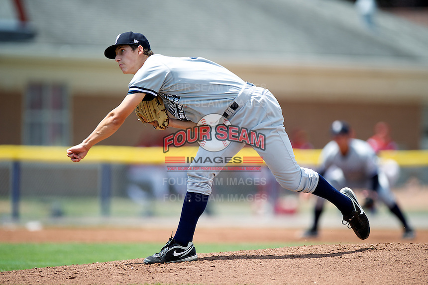Staten Island Yankees Tim Flight #56 during a game against the Batavia Muckdogs at Dwyer Stadium on July 29, 2012 in Batavia, New York.  Batavia defeated Staten Island 10-2.  (Mike Janes/Four Seam Images)