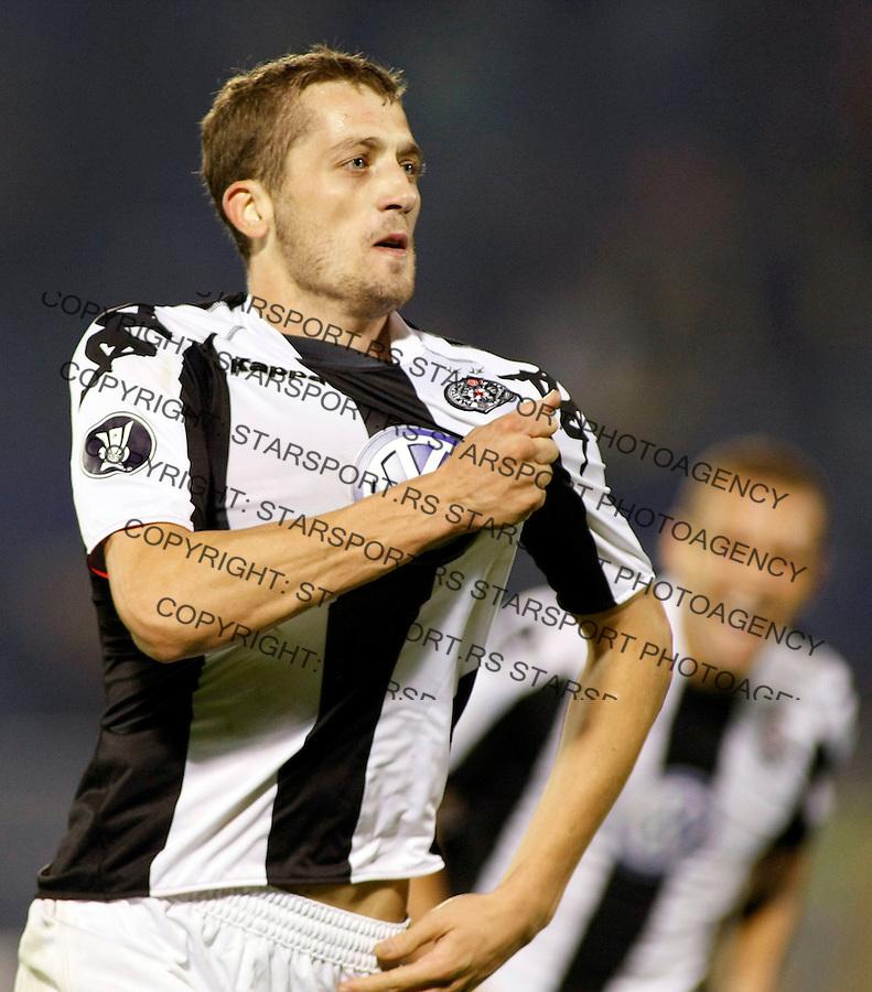 Fudbal, UEFA Cup, firrst round 2008/09.Partizan Vs. Timisoara (Romania).Ivan Stevanovic, celebrate.Beograd, 10.02.2008..foto: Srdjan Stevanovic ©