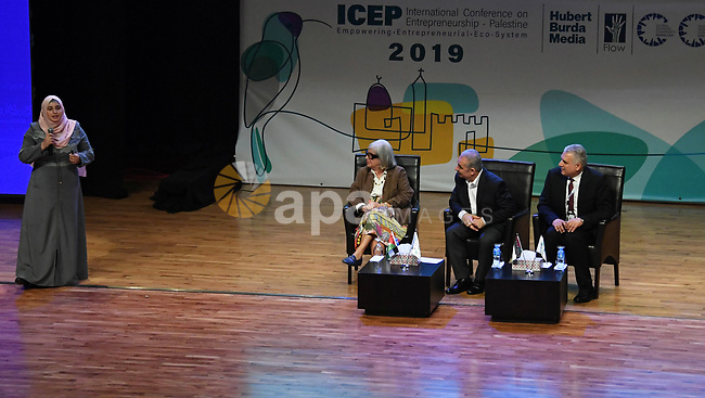 Palestinian Prime Minister Mohammad Ishtayeh attend in the International Conference on Empowerment in Palestine in the West Bank city of Ramallah, September 17 2019. Photo by Prime Minister Office