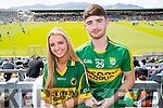Emma Connolly and Robert Dowd (both from Tralee), supporting Kerry at Fitzgerald Stadium, Killarney on Sunday last.