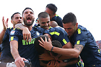 Esultanza dopo il gol di Marcelo Brozovic Inter goal celebration<br /> Benevento 01-10-2017  Stadio Ciro Vigorito<br /> Football Campionato Serie A 2017/2018. <br /> Benevento - Inter<br /> Foto Cesare Purini / Insidefoto