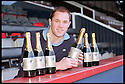 "4th December 98       Ref : 980409    .Copyright Pic : James Stewart   .""DAN"" MARINO KEITH SHOWS OF THE NEW CHAMPAGNE NAMED AFTER HIM."".........PRESS RELEASE AS FOLLOWS.......Back the Bairns, the independent Falkirk supporters campaign, today announced the launch of of a festive champagne ""Dan"" Perignon 98, named after the First Division's joint top scorer, ""Dan"" Marino Keith. Bottles will be given to anyone making a donation of more than £15 to the campaign. Donations will be taken at all festive Falkirk home games from tomorrow. For further information, contact Paul Robertson, telephone 0131 225 8217. Marino Keith said, ""It's an honour to be celebrated in this manner. I look forward to thanking the fans for their recent best wishes with this champagne"". .Payments to :-.James Stewart Photo Agency, Stewart House, Stewart Road, Falkirk. FK2 7AS      Vat Reg No. 607 6932 25.Office : 01324 630007        Mobile : 0421 416997.E-mail : JSpics@aol.com.If you require further information then contact Jim Stewart on any of the numbers above........."