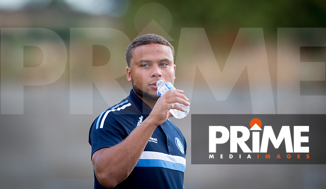 Curtis Thompson of Wycombe Wanderers pre match during the 2018/19 Pre Season Friendly match between Chesham United and Wycombe Wanderers at the Meadow , Chesham, England on 24 July 2018. Photo by Andy Rowland.