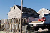 Lobster traps at Mill Creek Pond , Chatham , Cape Cod , MA