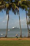 Iles du Salut au large de Kourou.ile royale (site du Conservatoire du littoral)