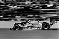 INDIANAPOLIS, IN - MAY 24: Gordon Johncock drives Pat Patrick's Wildcat VIII/Cosworth during the Indianapolis 500 USAC/CART Indy Car race at the Indianapolis Motor Speedway in Indianapolis, Indiana, on May 24, 1981.