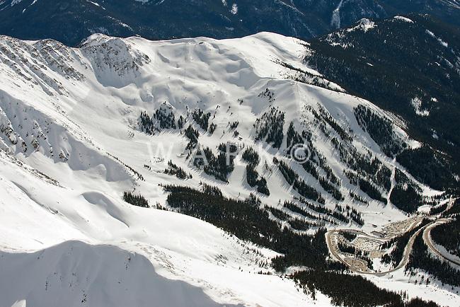 Aerial of Arapahoe Basin Ski Area. Feb 2014