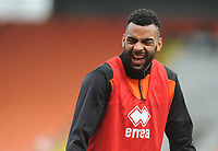 Blackpool's Curtis Tilt during the pre-match warm-up <br /> <br /> Photographer Kevin Barnes/CameraSport<br /> <br /> The EFL Sky Bet League One - Blackpool v Plymouth Argyle - Saturday 30th March 2019 - Bloomfield Road - Blackpool<br /> <br /> World Copyright © 2019 CameraSport. All rights reserved. 43 Linden Ave. Countesthorpe. Leicester. England. LE8 5PG - Tel: +44 (0) 116 277 4147 - admin@camerasport.com - www.camerasport.com