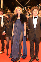 "Lily Cole and Guillaume Gallienne attending the ""Jagten (The Hunt)"" Premiere during the 65th annual International Cannes Film Festival in Cannes, France, 20th May 2012...Credit: Timm/face to face /MediaPunch Inc. ***FOR USA ONLY***"