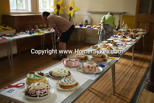 Petersham Village Richmond Surrey annual fete and flower show. Cake making competition. UK