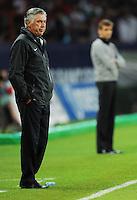 Carlo Ancelotti, allenatore del Paris Saint Germain..Parigi, 04/08/2012.Trofeo di Parigi .Paris Saint Germain vs FC Barcellona.foto Insidefoto / Christian Liewig / Panoramic ..Italy Only