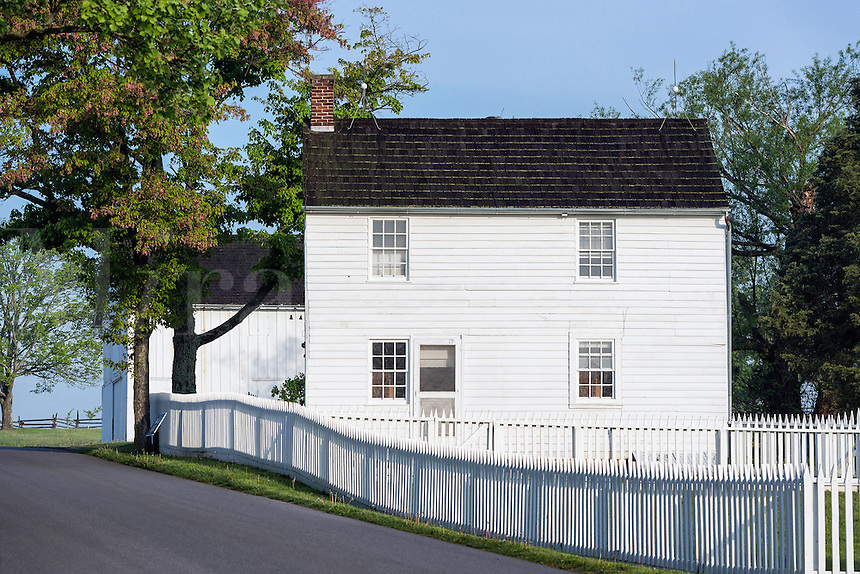 Historic Jacob Hummelbaugh farm  house,.Gettysburg National Military Park, Pennsylvania, USA