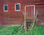 Whitman County, WA<br /> Side door and collapsing ramp to the Kelley Homestead barn near Oakesdale, in the Palouse