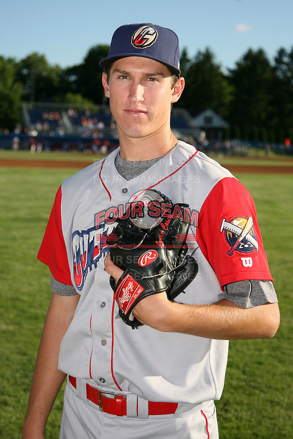 June 22, 2009:  Pitcher Jonathan Pettibone of the Williamsport Crosscutters before a game at Dwyer Stadium in Batavia, NY.  The Crosscutters are the NY-Penn League Short-Season Single-A affiliate of the Philadelphia Phillies.  Photo by:  Mike Janes/Four Seam Images