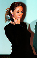 French actress Emanuelle Beart who is the President of the 25th t World Film Festival's  Jury take a moment of reflection during   the opening ceremony of the Festival  , august 23rd , 200l <br />  in Montreal, CANADA.<br /> <br /> Brought up on a farm in Provence because her father, French singer and poet Guy B&Egrave;art didn't want her to be affected by the glamour world of Paris showbusiness, Emmanuelle B&Egrave;art nevertheless got the acting urge in early adolescence. At age 15, after a couple of bit parts, she came to Montreal as an au pair to learn English. Back in France, after acting lessons and few small roles in television, she made her big-screen breakthrough in the title role of Claude Berri's Pagnol adaptation, MANON OF THE SPRING (1986). A year later she made her Hollywood debut in Tom McLoughlin's DATE WITH AN ANGEL. She has since played for some of the premier directors on both sides of the Atlantic: Rivette (LA BELLE NOISEUSE, 1991), Sautet (NELLY AND MR. ARNAUD (1995), Chabrol (L'ENFER,1994), De Palma (MISSION: IMPOSSIBLE, 1996) and Ruiz (TIME REGAINED, 1999). She stars in Catherine Corsini's REPLAY, showing at this year's Festival.<br /> <br /> Photo by Michel Karpoff<br /> Scanned, transmitted by and payable to Pierre Roussel<br /> <br /> NOTE : film scan