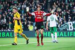 Stockholm 2014-03-04 Fotboll Svenska Cupen Hammarby IF - &Auml;ngelholms FF :  <br /> &Auml;ngelholms m&aring;lvakt Matt Pyzdrowski str&auml;cker ut armarna efter en m&aring;lchans f&ouml;r Hammarby <br /> (Foto: Kenta J&ouml;nsson) Nyckelord:  HIF Bajen &Auml;ngelholm