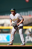 Oakland Athletics Chris Iriart (14) during an Instructional League game against the Arizona Diamondbacks on October 15, 2016 at Chase Field in Phoenix, Arizona.  (Mike Janes/Four Seam Images)