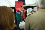 Catriona Kelly, Professor of Russian at the University of Oxford, in the Blackwell's marquee at the Sheldonian Theatre during the FT Weekend Oxford Literary Festival, Oxford, UK. Wednesday 26 March 2014.<br /> <br /> PHOTO COPYRIGHT Graham Harrison<br /> graham@grahamharrison.com<br /> <br /> Moral rights asserted.