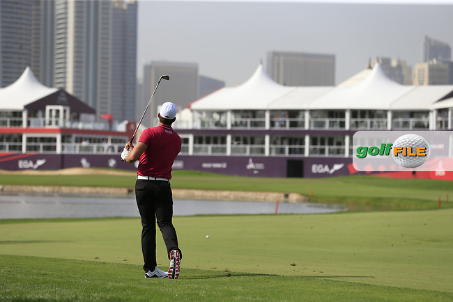 Haydn Porteous (RSA) on the 9th during Round 2 of the Omega Dubai Desert Classic, Emirates Golf Club, Dubai,  United Arab Emirates. 25/01/2019<br /> Picture: Golffile   Thos Caffrey<br /> <br /> <br /> All photo usage must carry mandatory copyright credit (© Golffile   Thos Caffrey)