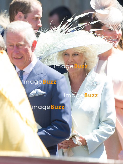 PRINCE CAHRLES AND CAMILLA, DUCHESS OF CORNWALL<br /> joined other members of the Royal Family for  A Service to Celebrate the Queen's 60th Anniversary of the Coronation Service at Westminster Abbey, London_04/06/2013<br /> Members of the Royal Family attending the Service included The Prince of Wales and The Duchess of Cornwall, The Duke and Duchess of Cambridge, Prince Henry of Wales, The Duke of York and Princesses Beatrice and Eugenie, The Earl and Countess of Wessex and The Lady Louise Mountbatten-Windsor, The Princess Royal, Vice Admiral Sir Tim Laurence, Peter Phillips and Autumn (Kelly) Phillips, Zara (Phillips) Tindall and Mike Tindall, The Duke and Duchess of Gloucester, The Duke and Duchess of Kent, Prince and Princess Michael of Kent