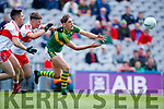 David Clifford Kerry in action against Dara Rafferty Derry in the All-Ireland Minor Footballl Final in Croke Park on Sunday.
