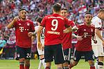 12.05.2018, Allianz Arena, Muenchen, GER, 1.FBL,  FC Bayern Muenchen vs. VfB Stuttgart, im Bild Jubel nach dem Tor zum 1-1 durch Corentin Tolisso (FCB #24) mit Robert Lewandowski (FCB #9) James (FCB #11) Thiago (FCB #6) <br /> <br />  Foto &copy; nordphoto / Straubmeier