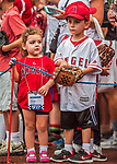 15 August 2017: A pair of young Los Angeles Angels fans wait for autographs prior to a game against the Washington Nationals at Nationals Park in Washington, DC. The Nationals defeated the Angels 3-1 in the first game of their 2-game series. Mandatory Credit: Ed Wolfstein Photo *** RAW (NEF) Image File Available ***