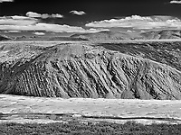 Late winter snow in mid June along the Dempster Highway<br />
