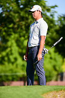Si Woo Kim (KOR) watches his putt on 14 during the round 1 of the Dean &amp; Deluca Invitational, at The Colonial, Ft. Worth, Texas, USA. 5/25/2017.<br /> Picture: Golffile | Ken Murray<br /> <br /> <br /> All photo usage must carry mandatory copyright credit (&copy; Golffile | Ken Murray)