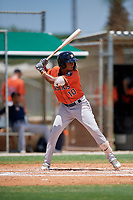 GCL Astros Rolando Espinosa (10) at bat during a Gulf Coast League game against the GCL Marlins on August 8, 2019 at the Roger Dean Chevrolet Stadium Complex in Jupiter, Florida.  GCL Marlins defeated GCL Astros 5-4.  (Mike Janes/Four Seam Images)