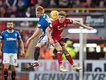 08.05.2018 Aberdeen v Rangers: Ross McCrorie and Ryan Christie
