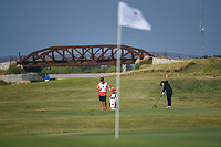 Ruixin Liu (CHN) hits her approach shot on 2 during the round 3 of the Volunteers of America Texas Classic, the Old American Golf Club, The Colony, Texas, USA. 10/5/2019.<br /> Picture: Golffile   Ken Murray<br /> <br /> <br /> All photo usage must carry mandatory copyright credit (© Golffile   Ken Murray)