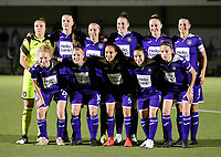 20190920 – LEUVEN, BELGIUM : RSC Anderlecht's team photo with (top left to right) Justien Odeurs, Tine De Caigny, Laura-Roxana Rus, Britt Vanhumel, Michelle Colson, Laura De Neve (bottom row right to left) Sheryl Merchiers, Stefania-Iulia Vatafu, Sakina Diki Ouzraoui, Laura Deloose and Charlotte Tisson  at the start of women soccer game between Dames Oud Heverlee Leuven A and RSC Anderlecht Ladies on the fourth matchday of the Belgian Superleague season 2019-2020 , the Belgian women's football  top division , friday 20 th September 2019 at the Stadion Oud-Heverlee Korbeekdam in Oud Heverlee  , Belgium  .  PHOTO SPORTPIX.BE | SEVIL OKTEM