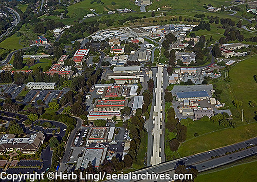 aerial photograph Stanford Linear Accelerator Menlo Park, San Mateo county, California