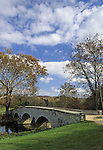 Burnside Bridge, scene of Civil War battle in September, 1862, Antietam National Battlefield, Sharpsburg, Maryland, USA