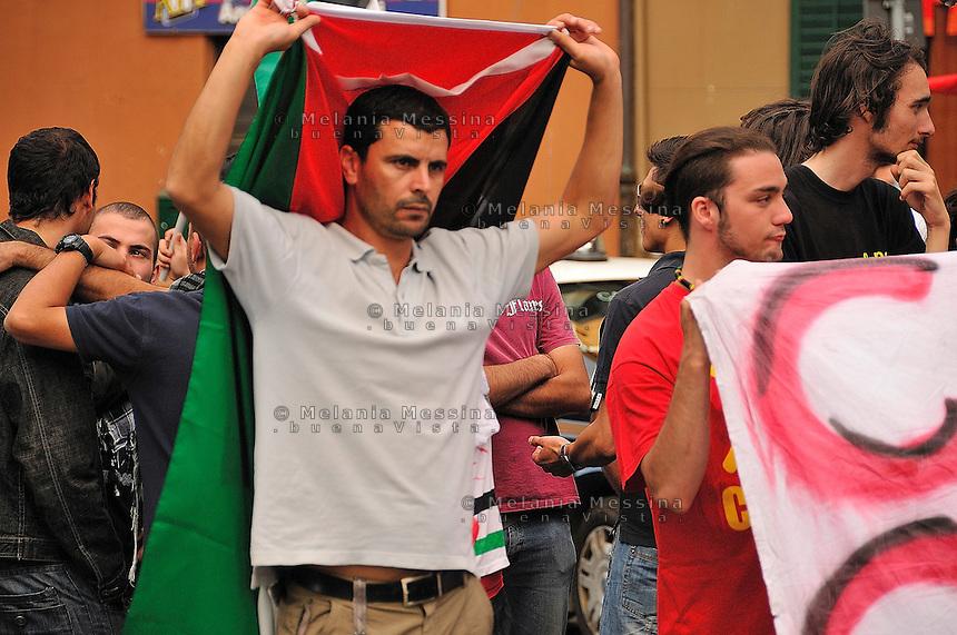 Palermo, protest against Israeli attack to peace flottilla.