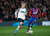 5th January 2020; Selhurst Park, London, England; English FA Cup Football, Crystal Palace versus Derby County; Louie Sibley of Derby County - Strictly Editorial Use Only. No use with unauthorized audio, video, data, fixture lists, club/league logos or 'live' services. Online in-match use limited to 120 images, no video emulation. No use in betting, games or single club/league/player publications