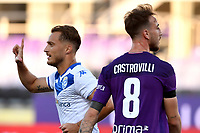 Alfredo Donnarumma of Brescia Calcio celebrates after scoring the goal of 0-1 during the Serie A football match between ACF Fiorentina and Brescia Calcio at Artemio Franchi stadium in Florence ( Italy ), June 22th, 2020. Play resumes behind closed doors following the outbreak of the coronavirus disease. <br /> Photo Antonietta Baldassarre / Insidefoto