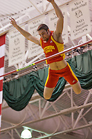Pittsburg State junior Colbie Snyder clears the bar in the pole vault at the 2012 MIAA Indoor Track & Field Championships at Missouri Southern State University in Joplin, MO February, 26.