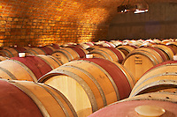 The barrel aging cellar. Bodega Familia Schroeder Winery, also called Saurus, Neuquen, Patagonia, Argentina, South America