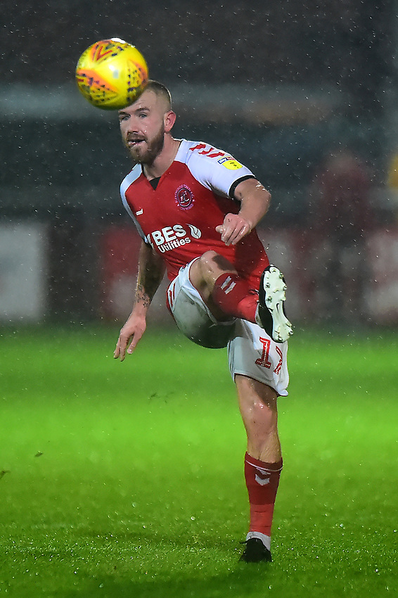 Fleetwood Town's Paddy Madden in action<br /> <br /> Photographer Richard Martin-Roberts/CameraSport<br /> <br /> The EFL Sky Bet League One - Saturday 15th December 2018 - Fleetwood Town v Burton Albion - Highbury Stadium - Fleetwood<br /> <br /> World Copyright © 2018 CameraSport. All rights reserved. 43 Linden Ave. Countesthorpe. Leicester. England. LE8 5PG - Tel: +44 (0) 116 277 4147 - admin@camerasport.com - www.camerasport.com